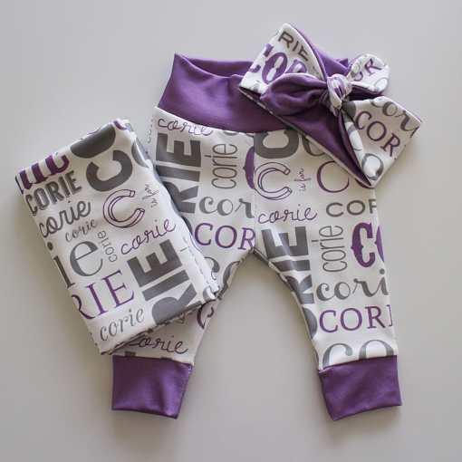 Baby Name Headband Gift Set