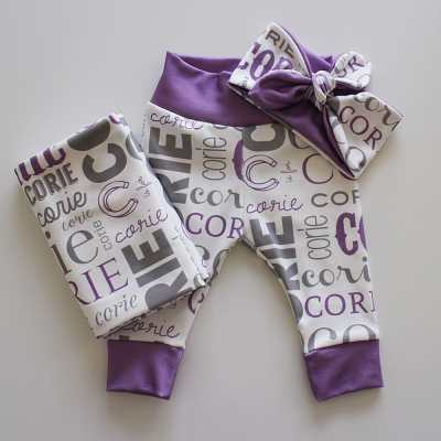 Baby Name Headband Gift Set