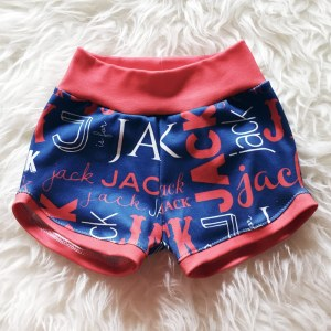 These personalized retro shorts are inspired by the super cute running shorts of old, but are made with incredibly soft custom printed organic cotton! ::: atkinsondriveorganics.com