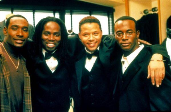 Morris Chestnut, Harold Perrineau,Terrence Howard, Taye Diggs in the Best Man