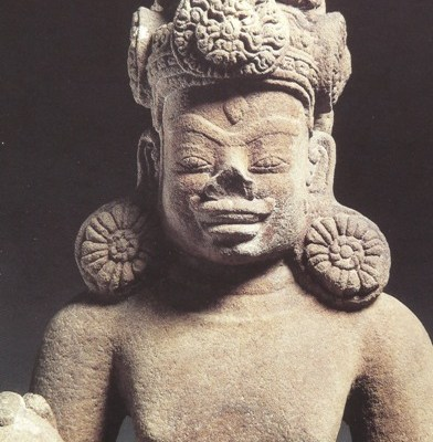 Sandstone statue of Shiva. 9th century Vietnam. Cleveland Museum of Art. Photo courtesy of Runoko Rashidi