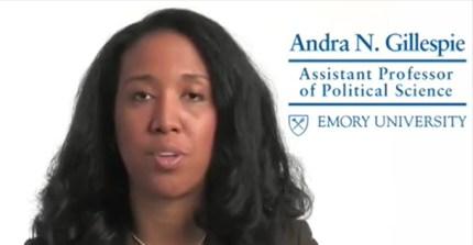 andra gillespie emory professor racism