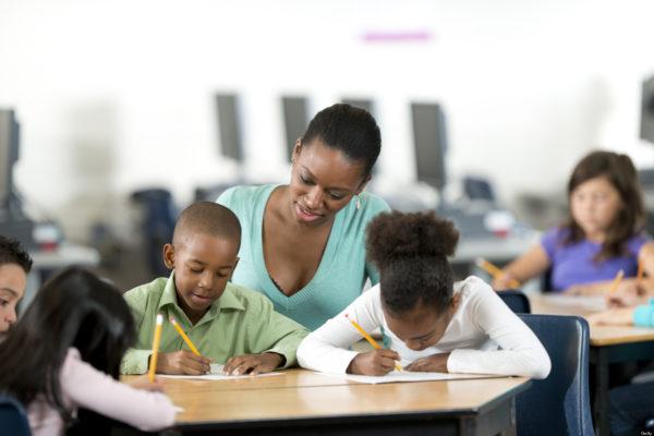 black female teacher