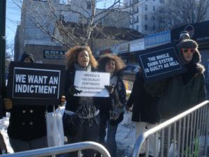 Occu-Evolve protesters counter NY pro-police rally.