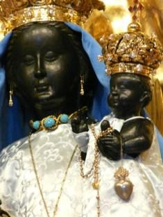 Die Schwarze Madonna at Einsiedeln, Switzerland.