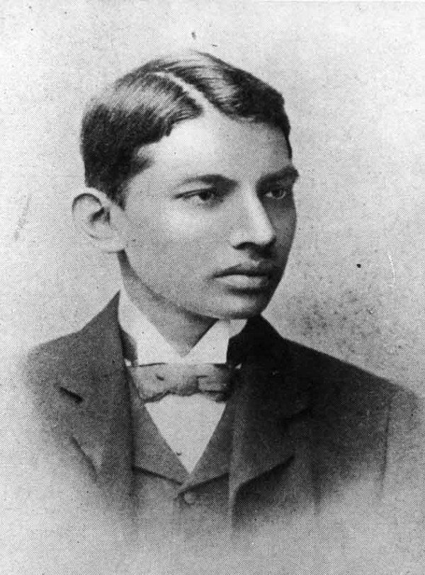 Gandhi in his 20s