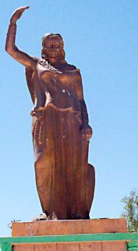 Statue of Dyhia in Khenchela Algeria