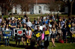 Rally at Emory University. AP.