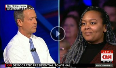 Governor O'Malley at 2016 democratic presidential town hall meeting