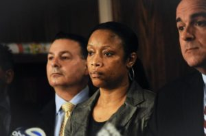 """Sgt. Kizzy Adonis, who joined the NYPD in 2002, was placed on modified duty after getting hit with four department counts of """"failure to supervise."""" (Danielle Maczynski/New York Daily News)"""