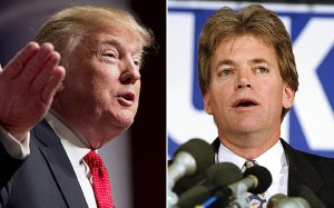 Former KKK leader David Duke, right, has come out in defence of Donald Trump Photo: AP