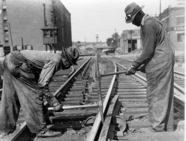 black-train-workers