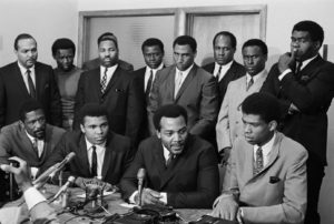 On June 4, 1967, black athletes met in Cleveland to discuss their support for Ali.