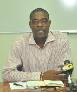Guyana's Public Infrastructure Minister David Patterson (Photo via Guyana Times)