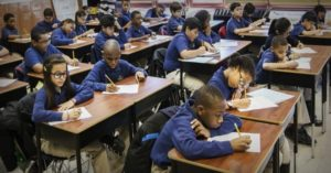Charter school students in class. Image courtesy of the Compton Herald.