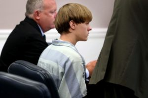 Dylann Roof appears in court in Charleston, S.C. in on July 16. Photo by Grace Beahm/Post and Courier via AP/Pool.