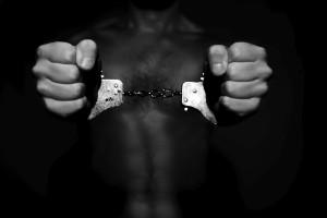 Man handcuffed hands