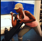 Mary J. Blige is making sure to keep her arms in shape.