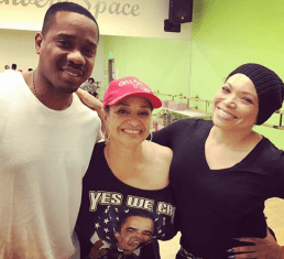 """Campbell-Martin happily shared this snapshot with dance legend Debbie Allen (center) and Martin, who his wife recalled was """"sooo proud of me"""" as she rehearsed for """"The Hot Chocolate Nutcracker"""" in December. (@tishacampbellmartin/Instagram)"""