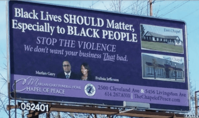Funeral Home Billboard