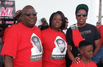 Jay-z and Trayvon Martin parents