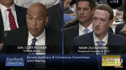 Cory Booker Zuckerbeg