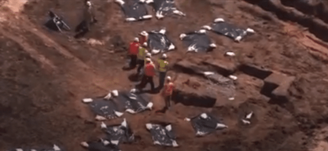 Image result for pictures of mass grave at texas construction site
