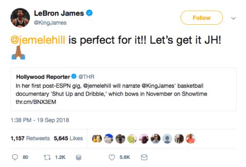 Lebron James tweets