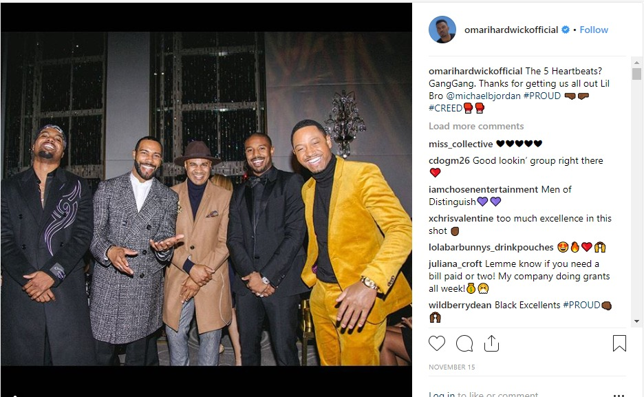 Omari Hardwick and others praised for supporting Michael B. Jordan at Creed II premiere