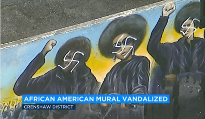 Black Panther Mural Vandalized