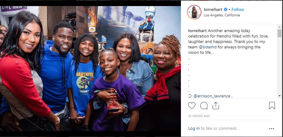 Torrei Hart got criticized for posting a photo of herself with Kevin Hart and his wife Eniko