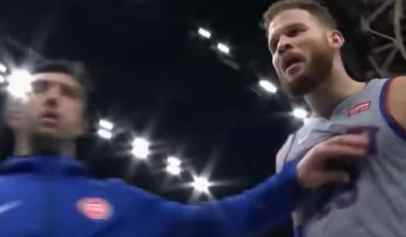 Blake Griffin had a heated exchange with a fan