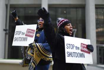 government shutdown protest