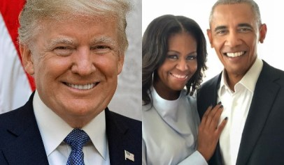 Donald Trump lied about the Obamas having a 10 foot wall in front of their Washington D.C. home.