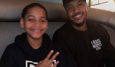A video of Carmelo Anthony's son playing basketball has gotten a lot of attention.