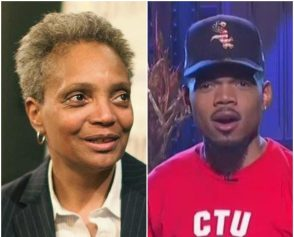 Lori Lightfoot and Chance the Rapper