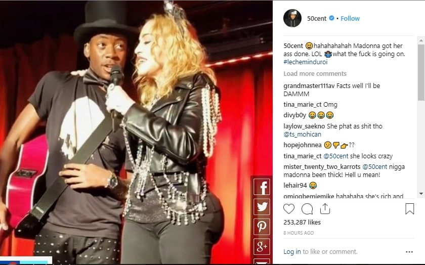 50 Cent expressed confusion over Madonna's rumored new butt.