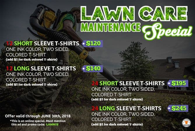lawn care t-shirt special