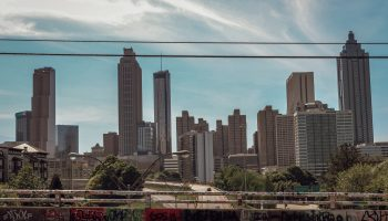 Atlanta Skyline and bridge on a grey day