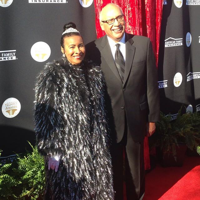 Trumpet Awards founder Xernona Clayton with her husband, Judge Paul Brady.