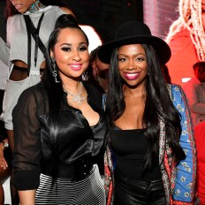 """ATLANTA, GEORGIA - MARCH 10: Tammy Rivera and Kandi Burruss attend the premiere of """"Waka & Tammy: What The Flocka"""" at Republic on March 10, 2020 in Atlanta, Georgia. (Photo by Paras Griffin/Getty Images WE tv)"""