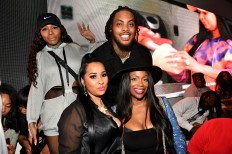 """ATLANTA, GEORGIA - MARCH 10: Alexis Lex, Tammy Rivera, Kandi Burruss, and Waka Flocka attend the premiere of """"Waka & Tammy: What The Flocka"""" at Republic on March 10, 2020 in Atlanta, Georgia. (Photo by Paras Griffin/Getty Images WE tv)"""