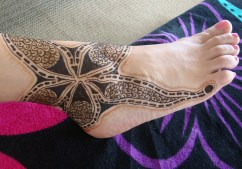 henna starfish design