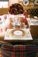 Who cares what's for dinner when it's served on a Ralph Lauren table, with Hermès china and Saint-Louis Crystal?
