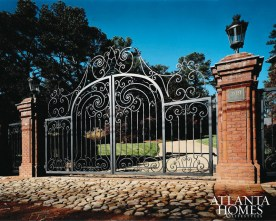 craftsmanship Classical French Iron Drive Gate Michael Dillon, Dillon Forge