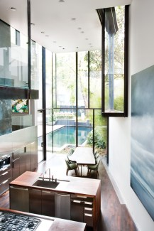 37) Sara Steinfeld, Brian Bell and David Yocum created a striking contemporary glass addition to a classic in-town residence.