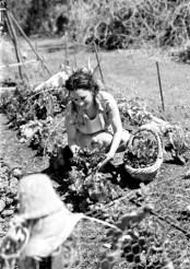 Coste Dujols in her organic garden.