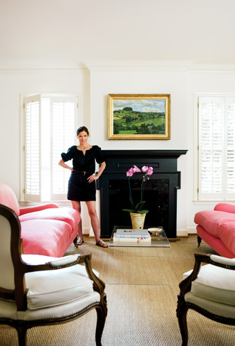 Anne Mashburn at home. Her sense of style is evident in her well-edited selections.