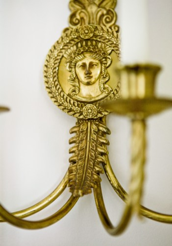 """Down to the last detail""""like this sconce""""there""""s an artistic approach to each piece."""