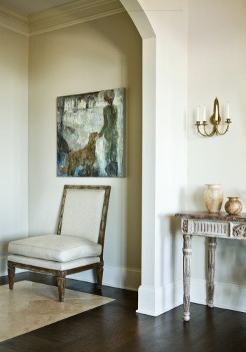 """A color palette comprising sophisticated neutrals complements, and doesn""""t compete with, the owners"""" impressive art works."""